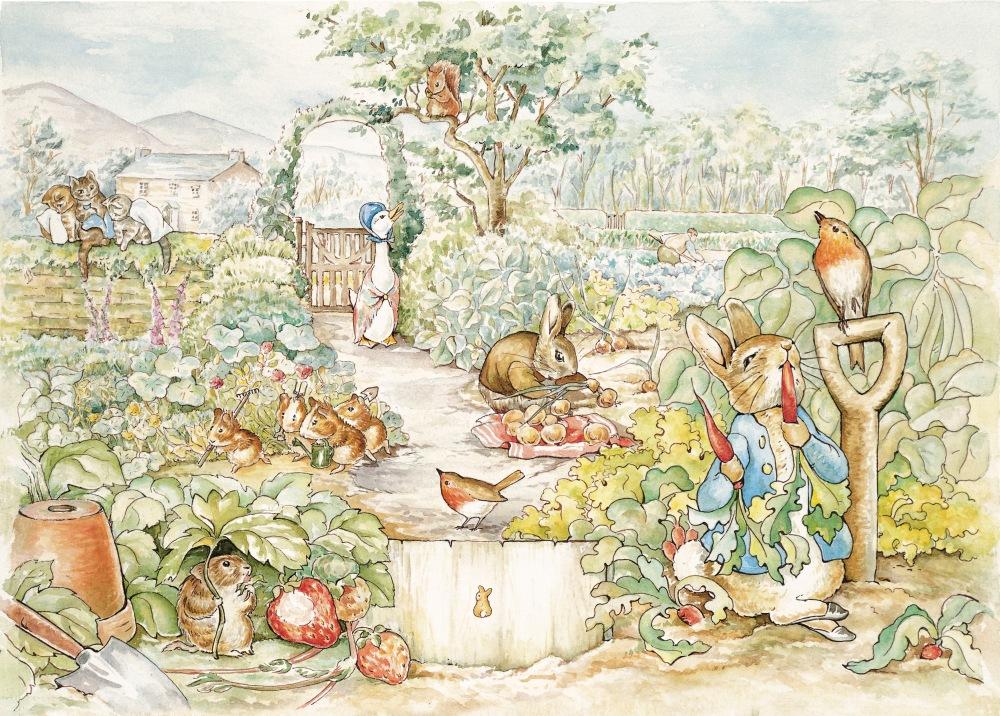 Redrawn Art Scenes Puzzle Design Mousemat RCA48 garden scene
