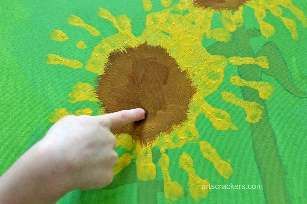 Handprint-Sunflowers-Canvas-Step-81
